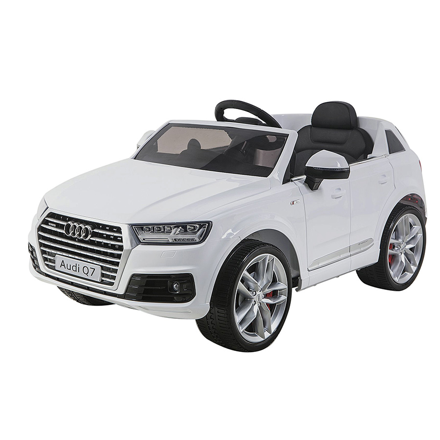 белый WHITE - SHINE RING Электромобиль AUDI Q7, 12V/10Ah, EVA