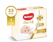 Подгузники Huggies Elite Soft 3 - 5 кг 25 шт
