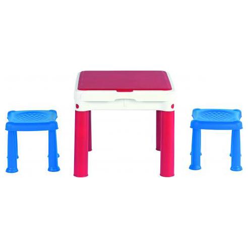 KETER Столик для игр с конструктором 3в1+2 табуретки